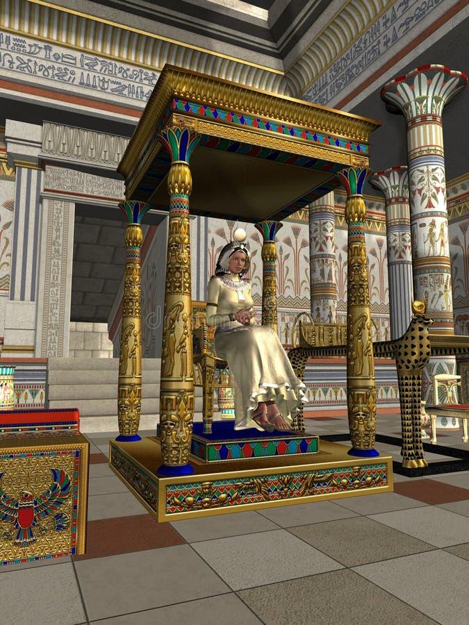 Trono de la reina stock de ilustración