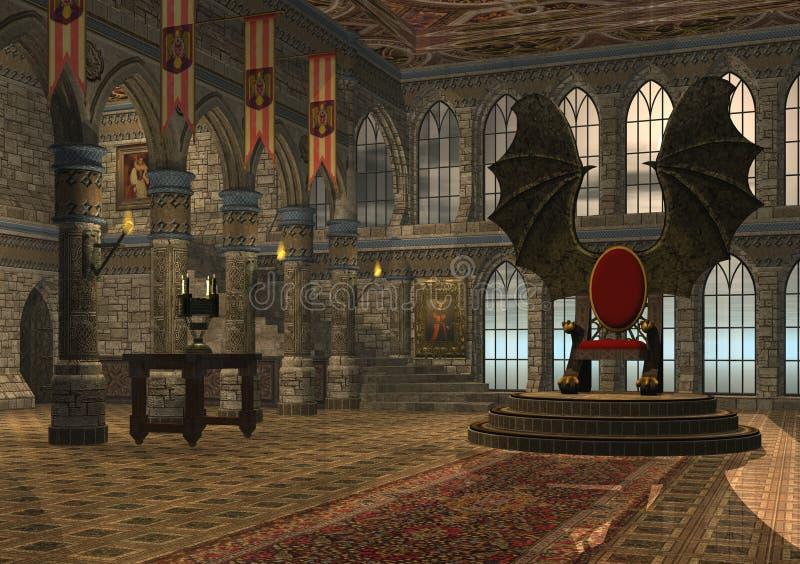 Trono Del Dragón Imagen de archivo