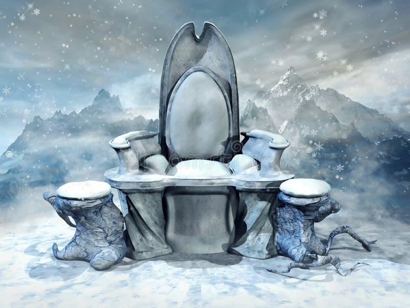 Trono del ghiaccio nelle montagne royalty illustrazione gratis
