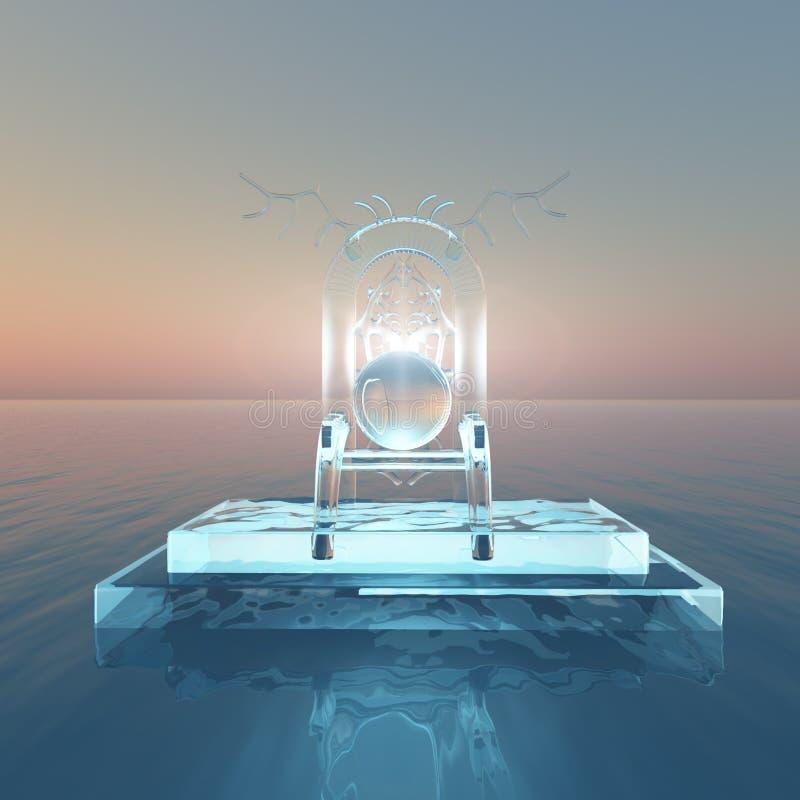Trono di luce sopra acqua