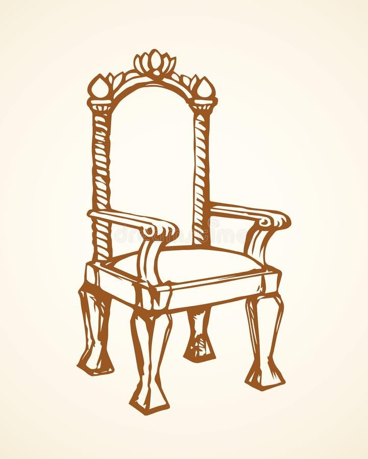 trono Gráfico del vector stock de ilustración