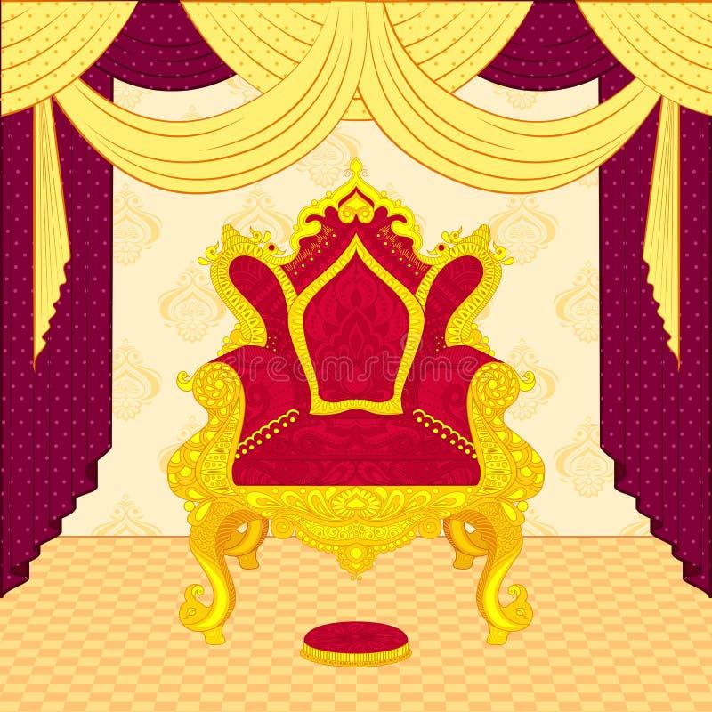 Trono real ilustração stock