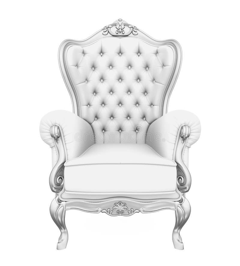 Tronowy krzesło Odizolowywający ilustracja wektor