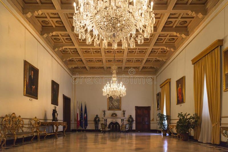 Tronowy pokój zdjęcia royalty free