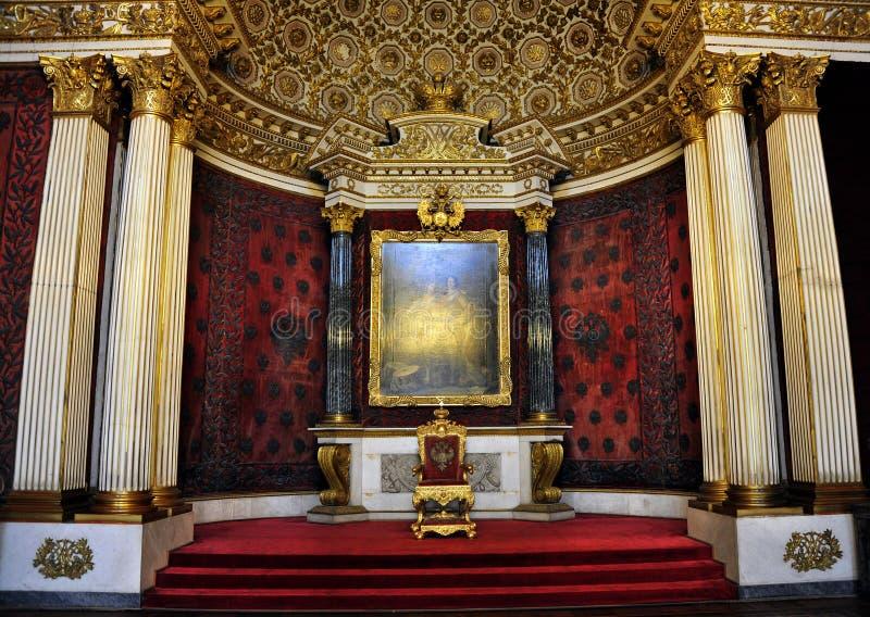 Tronowy pokój, zima pałac, St Petersburg, Rosja zdjęcie royalty free