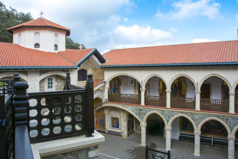 Troodos山的Kykkos修道院,塞浦路斯 库存图片