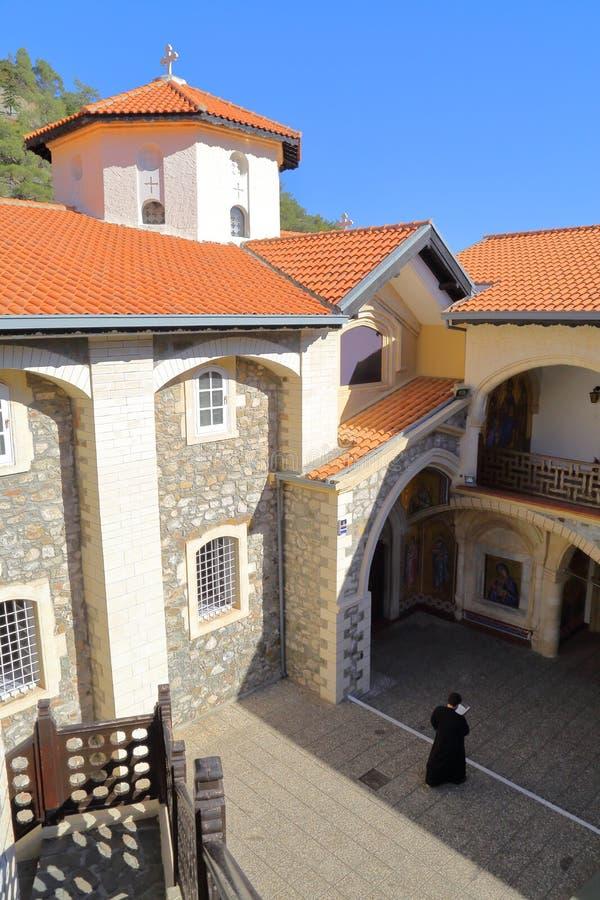 TROODOS ΒΟΥΝΑ, ΚΎΠΡΟΣ â€ «στις 18 Νοεμβρίου 2015: Μοναστήρι Kykkos στοκ φωτογραφία