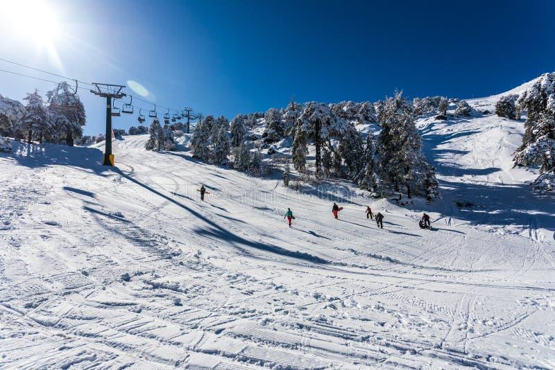 Troodos jest wielkim pasmem górskim w Cypr obraz royalty free