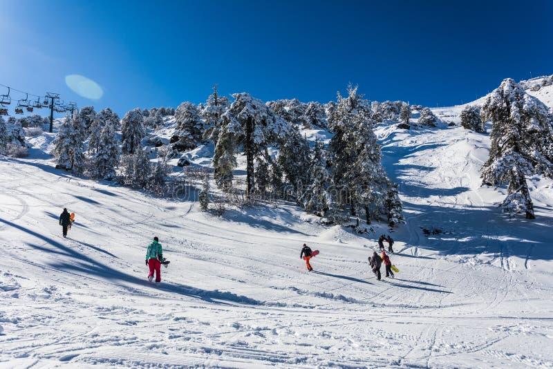 Troodos jest wielkim pasmem górskim w Cypr obrazy royalty free