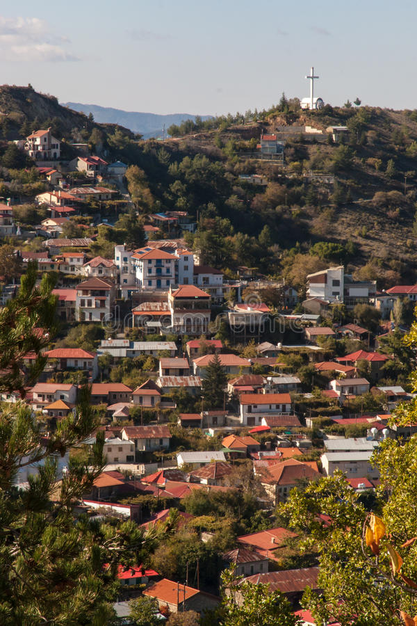 Troodos Mountains in Cyprus Town royalty free stock images