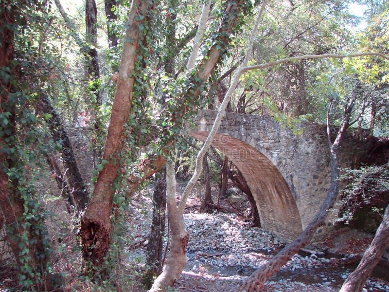 Troodosbergen Cyprus Landschappen van berghorizonnen bij een hoogte van 500 m boven overzees - niveau royalty-vrije stock foto