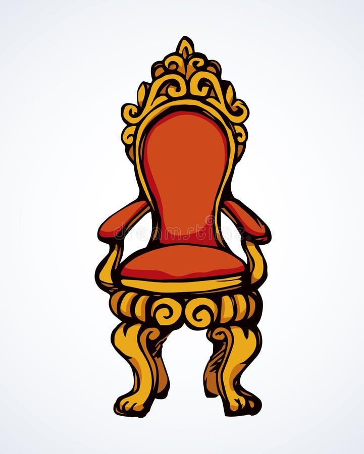 troon Vector tekening vector illustratie