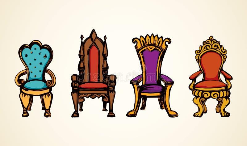 troon Vector tekening royalty-vrije illustratie