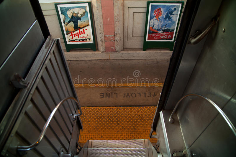 Troop Train And Posters Editorial Stock Photo