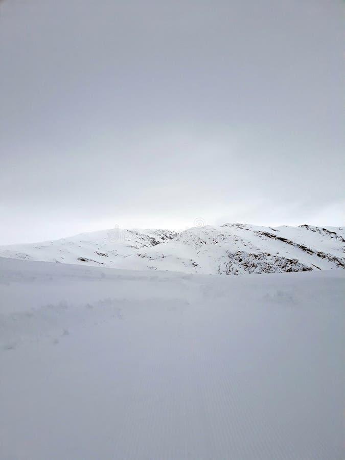 Troosteloze die woestenij van bleekheid op een berg` s bovenkant wordt gevonden stock foto's