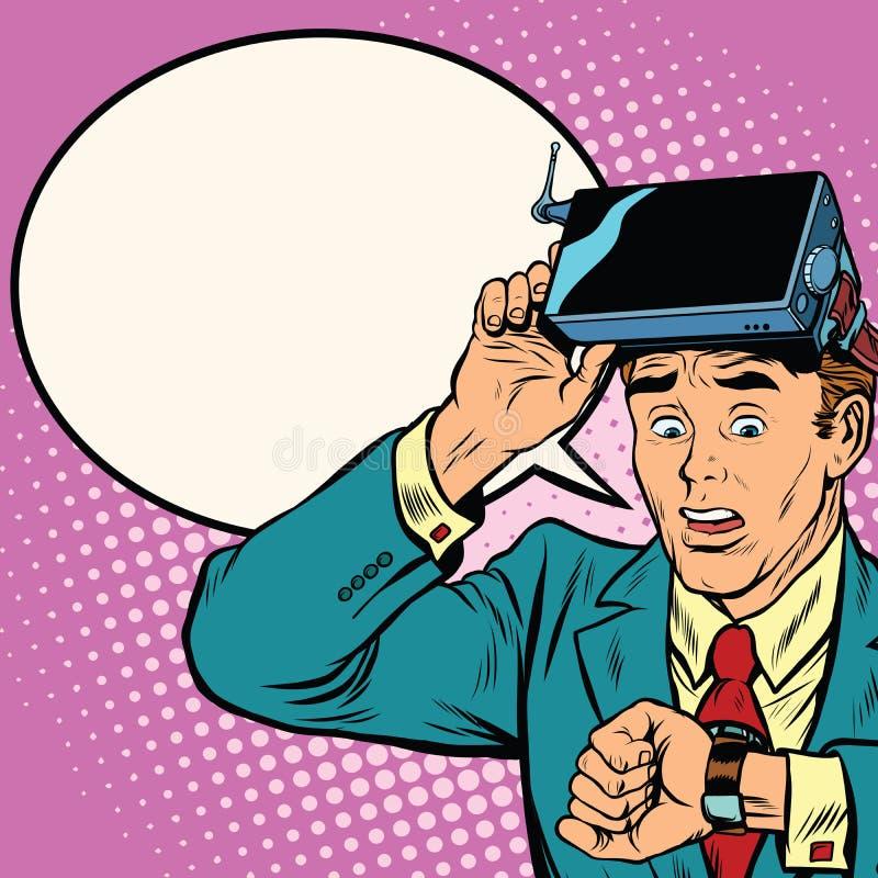 Trop d'heure dans la réalité virtuelle illustration libre de droits