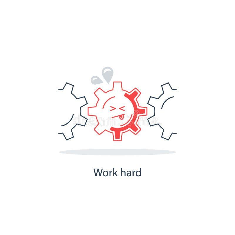 Trop de concept de travail illustration libre de droits