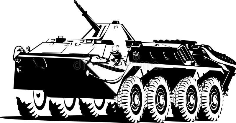 Tropa-portador acorazado. ilustración del vector