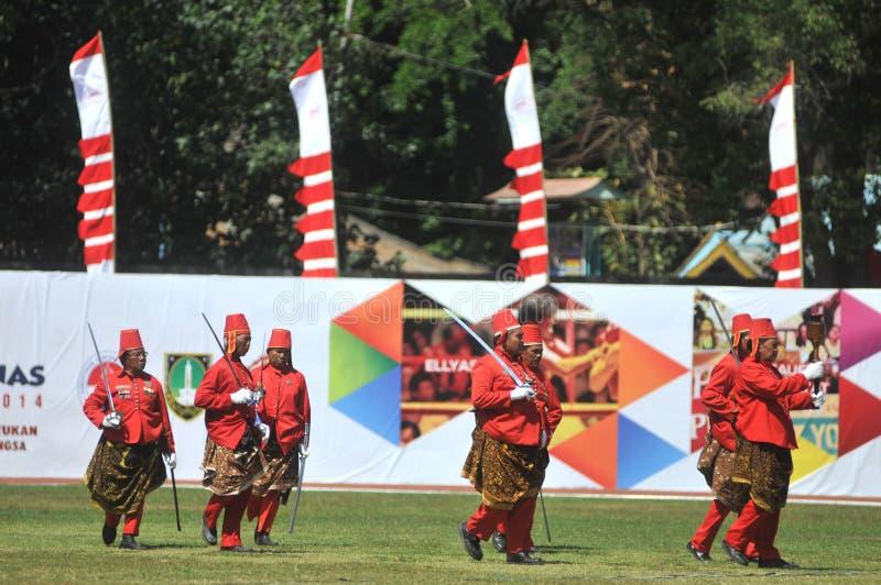 Tropas do sultanato de Kraton Surakarta imagens de stock royalty free