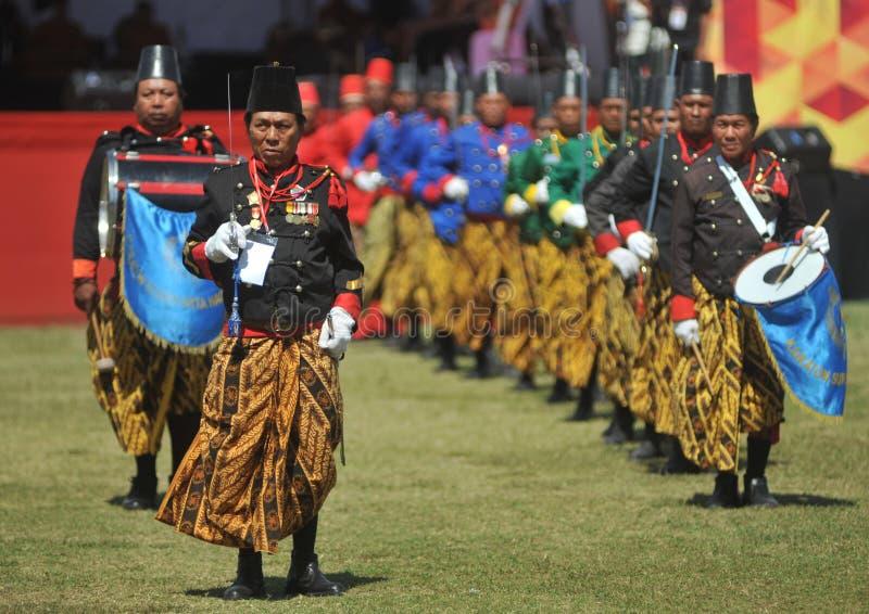 Tropas do sultanato de Kraton Surakarta fotos de stock royalty free