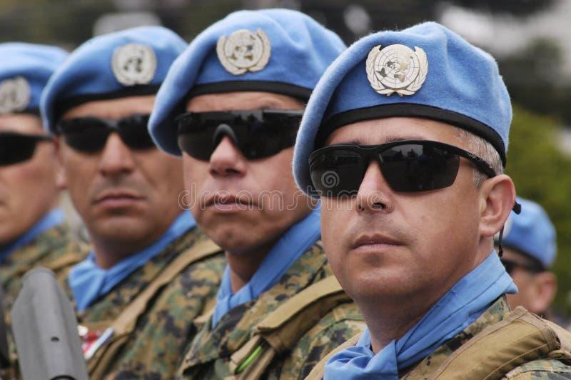 Tropas do UN imagem de stock