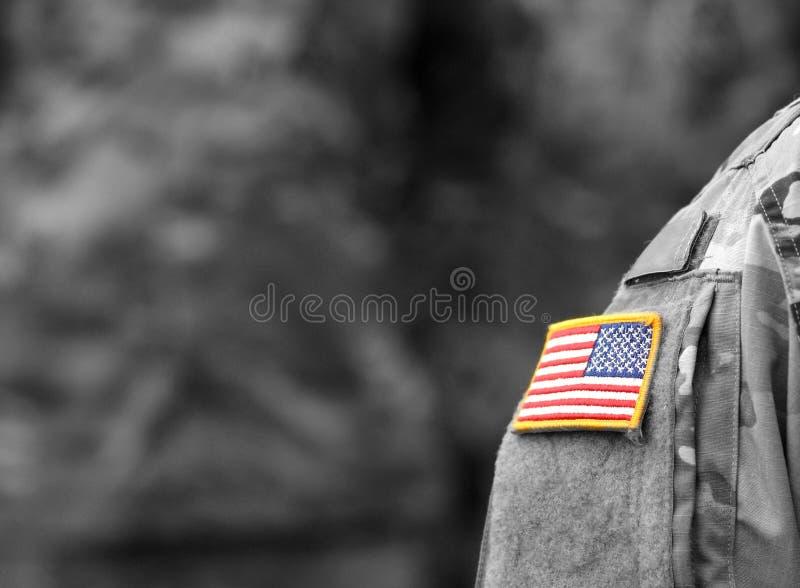 Tropas dos E.U. Soldados dos E.U. Exército dos EUA fotografia de stock royalty free