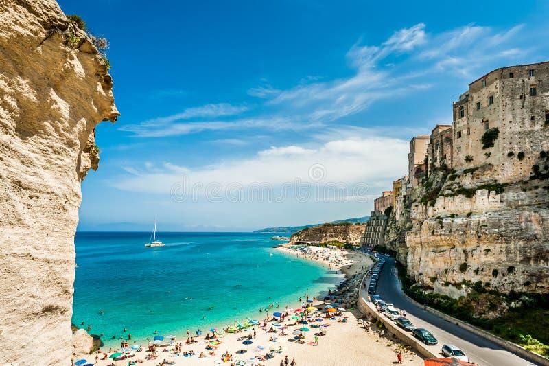 Mediterranean beach - Tropea, Italy royalty free stock images