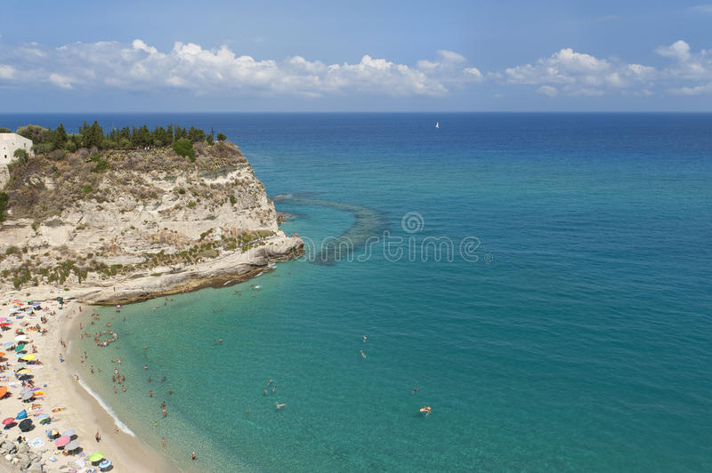 Tropea sea stock photo