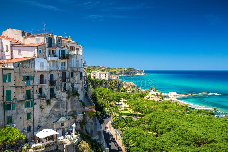 Tropea town in Calabria. stock photography