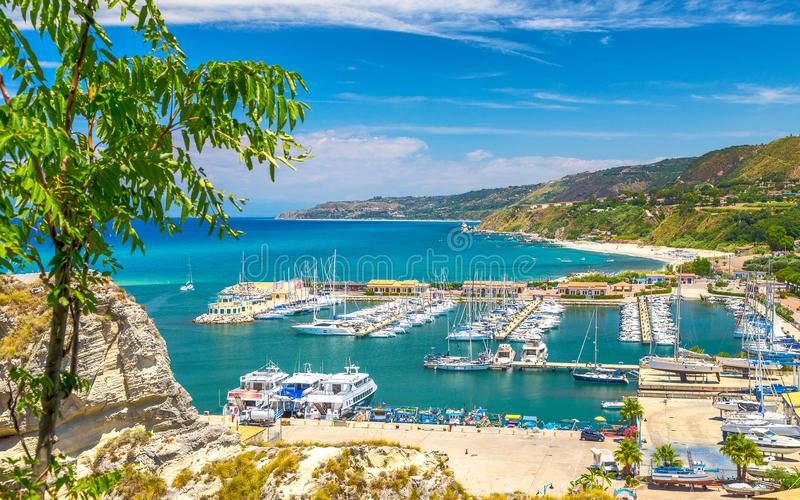 Marina near by Tropea town. royalty free stock images
