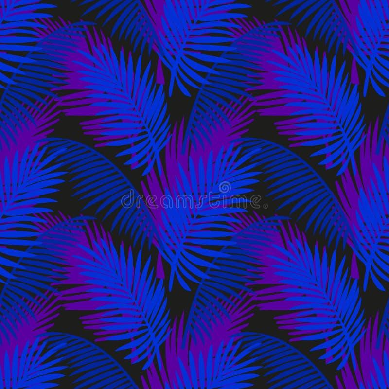 Tropen lassen Hintergrund mit Neonfarben lizenzfreie abbildung