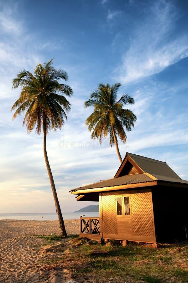 Tropeninselfeiertagsferien auf dem Strand stockbilder