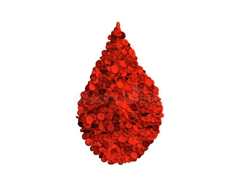 Tropfen der Blutzellen vektor abbildung