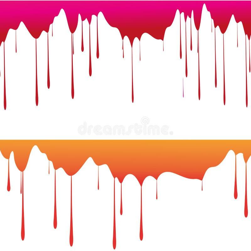 Tropfen der Farbe vektor abbildung