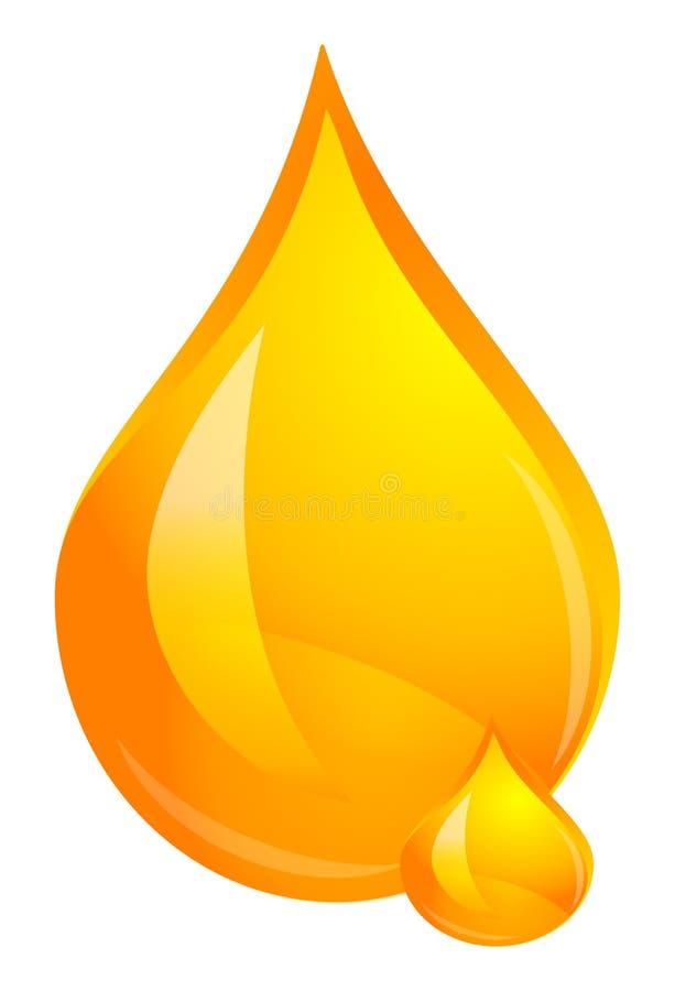 Tropfen des Öls lizenzfreie abbildung