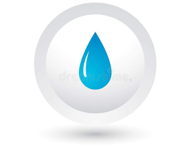 Tropfen des blauen Wassers lizenzfreie abbildung