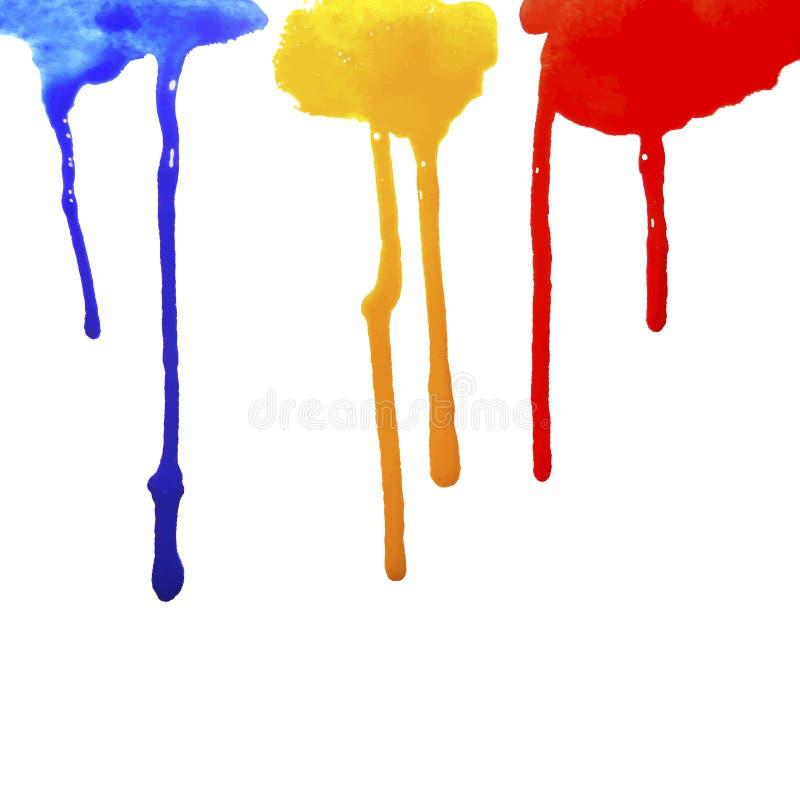 Tropfen des Farben-Fließens lizenzfreie abbildung