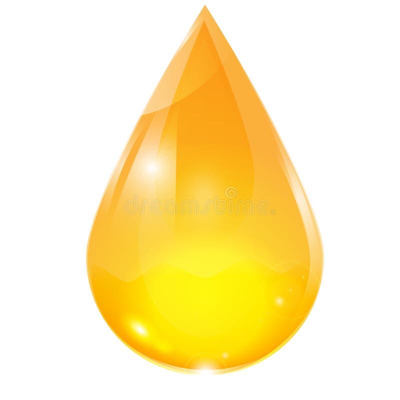Tropfen des Gelbs stock abbildung