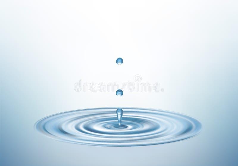 Tropfen des Wassers lizenzfreie abbildung