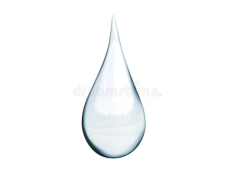 Tropfen des Wassers stock abbildung
