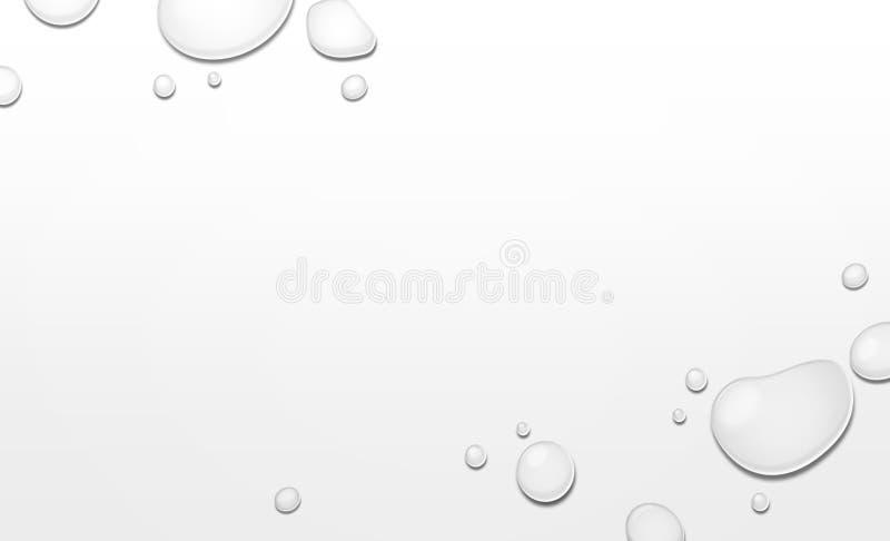 Tropfen-Wasser auf unregelmäßigem Grey Background lizenzfreie stockfotografie