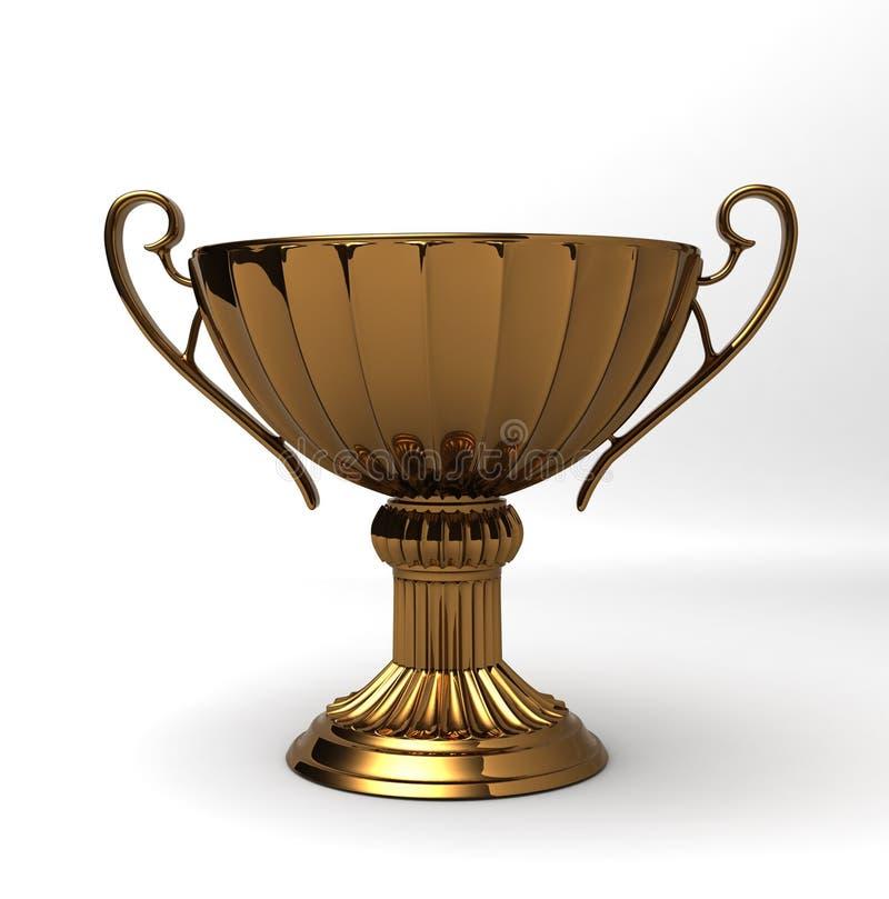 TROPHÄE-CUP Bronze lizenzfreie abbildung