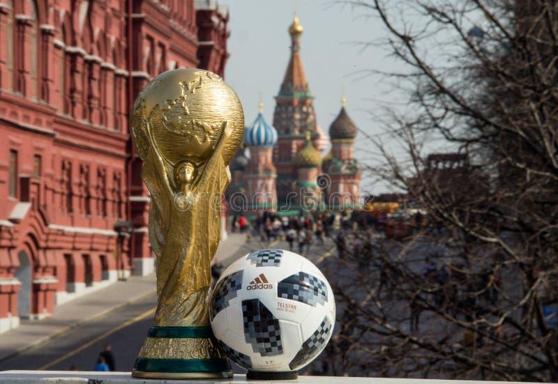 Trophäe der Fußball-Weltmeisterschaft stockfotografie