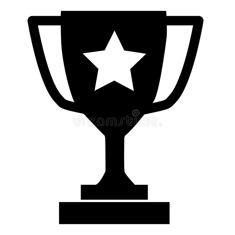 Trophäenikone auf grauem Hintergrund Flache Art Trophäenikone für Ihren Websiteentwurf, Logo, App, UI Trophäenschalensymbol meist lizenzfreie abbildung
