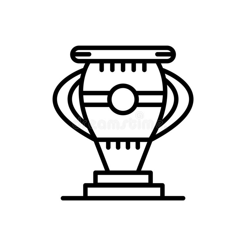 Trophäenikonenvektor lokalisiert auf weißem Hintergrund, Trophäenzeichen, Linie oder linearem Zeichen, Elemententwurf in der Entw stock abbildung