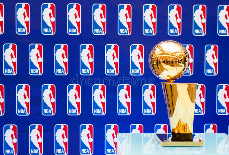 Trophée de championnat de NBA de Larry O'Brien photo stock