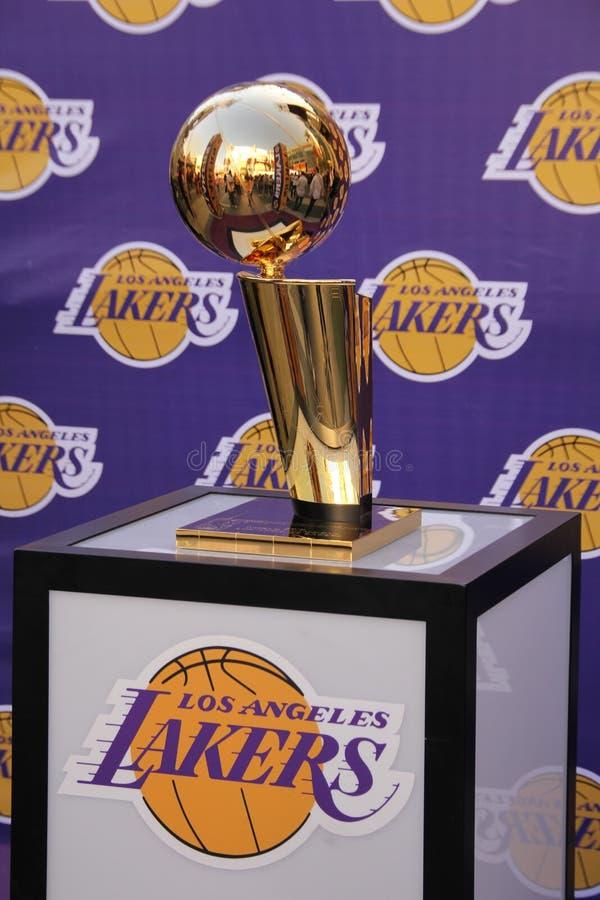 Trophée de finales de NBA image stock