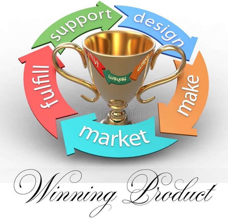 Trophée de flèches de conception de produits d'affaires illustration de vecteur