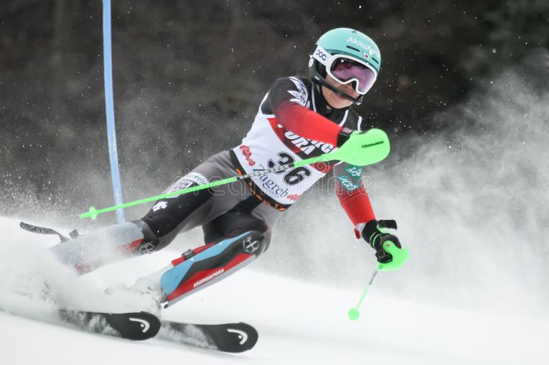Trophée 2019 de la Reine de neige - slalom de dames photos stock