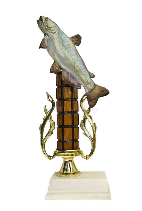 trophée de poissons de récompense images libres de droits